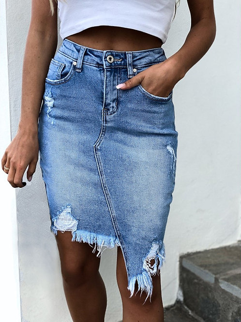 The Jean Denim Skirt