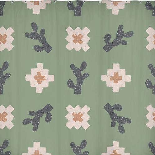 Southwest Cactus Shower Curtain 70 x 70