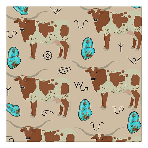 Turquoise n Longhorn Cloth Napkins