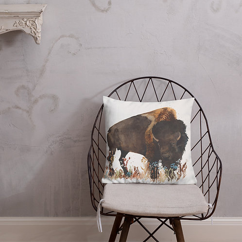 Buffalo Wild Flower Premium Pillow