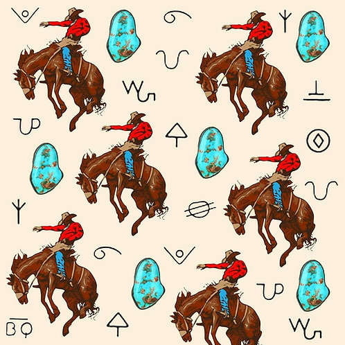 Turquoise & Broncs Wrapping Paper