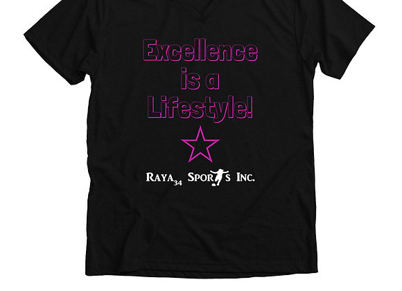 Excellence is a Lifestyle! V-Neck Unisex Tee