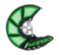 Acerbis X-Brake Disc Cover, Black/Green