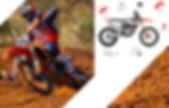 Acerbis replica KTM plastics.