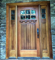 Mahogany Door Refinish