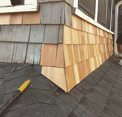 Shingle siding repair