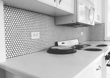 Penny Tile Backsplash