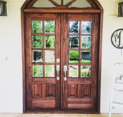 After Mahogany Door Refinish