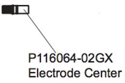 P 116064-02GX Electrode Center