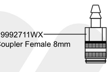 P9992711WX Coupler Female 8mm
