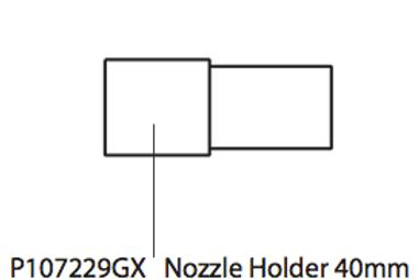 P107229GX Nozzle Holder 40mm