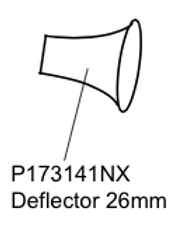 P173141NX Deflector 26mm