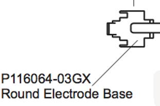 P116064-03GX Round Electrode Base