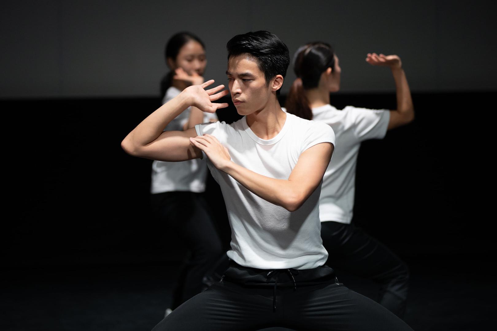 "侯敘臣 Hou Xuchen  舞蹈員 Dancer  2013年畢業於廣州市藝術學校中國舞系,同年獲全額獎學金入讀香港演藝學院,主修中國舞,多次代表學院赴海外交流表演,曾到訪加拿大,德國,韓國等地,並獲香港演藝學院舞蹈學院院長獎學金及徐美琪傑出表演藝術家獎。  2017年於香港演藝學院畢業後,隨即加入香港舞蹈團,演出包括:《白蛇》、《三城誌》〈四季〉、《踏歌行》、《鬍鬚爺爺之詩遊記》獨舞演繹李白、《劉三姐》、《絲路如詩》雙人舞〈掀起你的蓋頭來〉、「八樓平台」《Neon》及《境》、《一水南天》飾陳立梅,並為「中國舞蹈與中國武術之交互研究與成果呈現」計劃之研究員之一。  Graduated from the Chinese Dance Department of Guangzhou Art School in 2013, Hou Xuchen was awarded full scholarship to study at the Hong Kong Academy for Performing Arts (HKAPA) in the same year, majoring in Chinese Dance. Hou represented the Academy on numerous overseas performance tours, visiting Canada, Germany and Korea, etc. He was awarded HKAPA's Dean of Dance Scholarship as well as The Margaret Zee Outstanding Performer Award.  After graduating from the HKAPA in 2017, Hou joined the Hong Kong Dance Company and has since performed in various productions including Lady White of West Lake, Four Seasons in Tale of Three Cities, Dream of the Past: Ancient Chinese Court Dances, solo in Fun Ride with Big Beard – Dancing Poems, Liu San Jie, pas de deux in Ode to the Silk Road, ""8/F Platform""– Neon and Jing, and A Tale of the Southern Sky. He is also a researcher of HKDC's Research study on Chinese martial arts and Chinese dance."