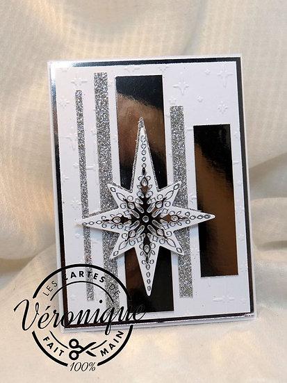 """Carte """"Etoile de lumière"""" / """"Light star"""" card"""