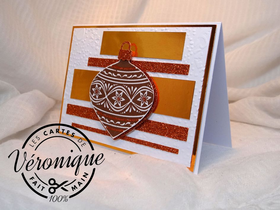 "Carte chevalet ""Boule de cuivre"" / ""Copper ball"" card"