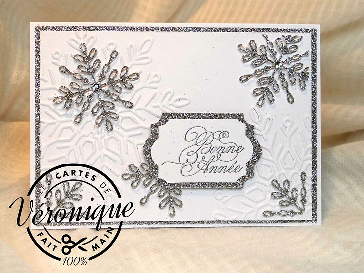 "Carte chevalet ""Bonne Année"" / ""Happy new year"" easel card"
