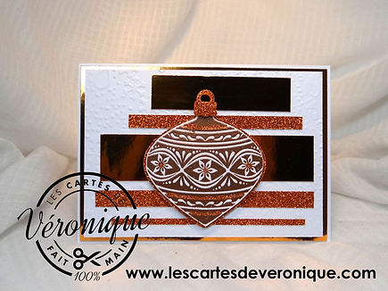 Carte de voeux 3D Boule de cuivre / Copper Ball 3D wishing card