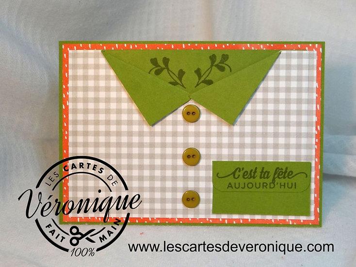 Carte Bonne Fête pochette / Pouch party card