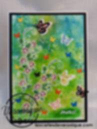 "Double carte Merci ""Journée d'été"" Stampin'Up© (Lot: Abondance de beauté 149820) / 3D Thanks Stampin'Up© handmade double card ""Summer day"" (Beauty Abound Bundle)"