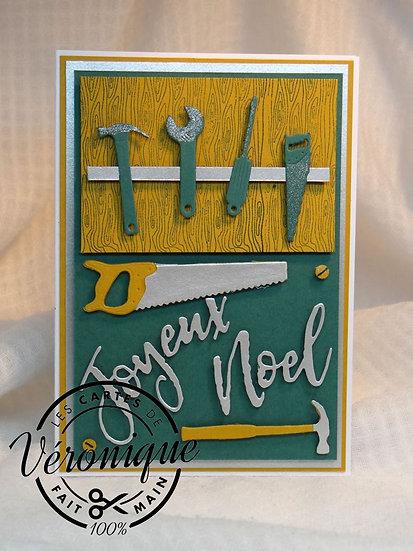"Carte ""Joyeux Noël"" bricolage / Merry Christmas bricolage card"
