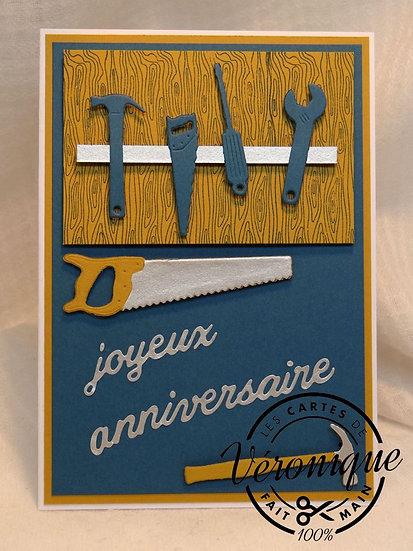Carte Anniversaire bricolage / Bricolage birthday card