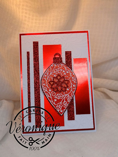"Carte ""Boule Rouge"" / ""Red bauble"" card"