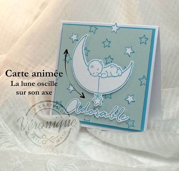 Carte 3D animée Naissance / Animated 3D Birth card