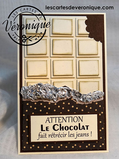 "Carte 3D ""Chocolats gourmands"" / 3D ""Gourmet chocolates"" card"