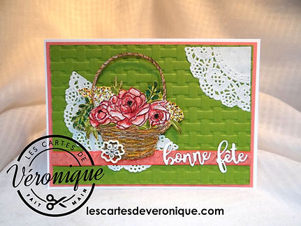Carte 3D Stampin'Up Bonne fête Bouquetde pivoines / 3D Stampin' Up Happy Day Peony