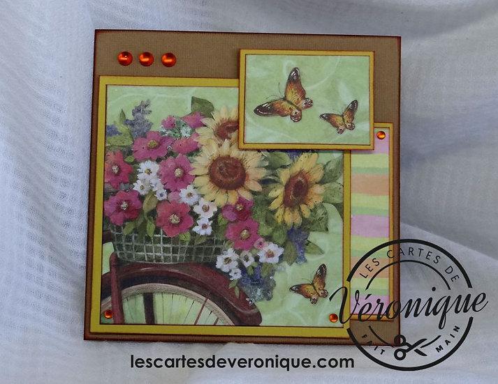 "Carte  "" Balade "" / Bicycle ride card"