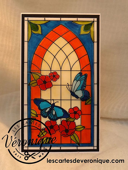 Carte Vitrail / Stained glass card
