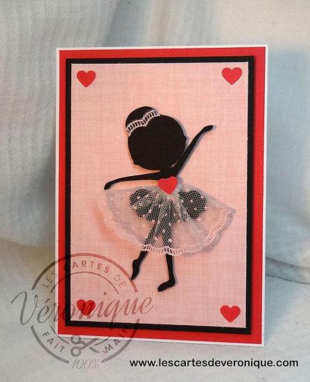 "Carte ""petite ballerine"""