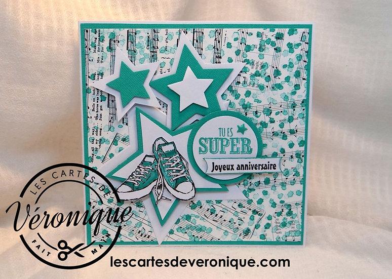 "Carte ""Tu es Super, Joyeux Anniversaire""/Birthday card"