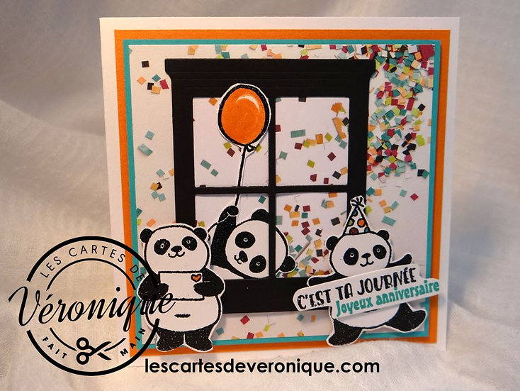 "Carte ""Pandas Joyeux"" / Happy pandas card"