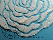 Exemple d'utilisation de la pâte à embosser Blanc miroitant Stampin'Up / example of use of  shimmery white Stampin'Up® embossing paste