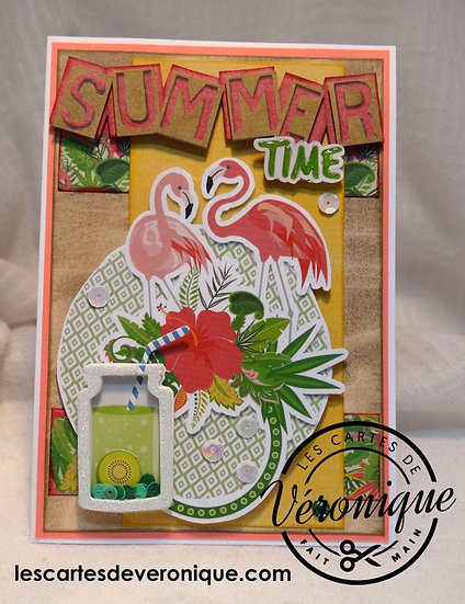 "Carte 3D "" Summer Time"""