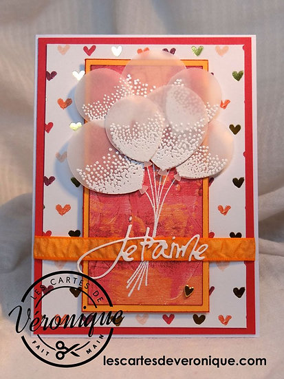 "Carte Je t'aime ""Bouquet de Ballons"" / I love you card ""Bunch of ballons"""