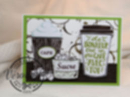 Carte 3D Stampin'up© Café / 3D Coffee Stampin'up©card