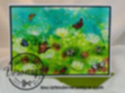 """Double carte 3D """"Prairie d'été"""" Stampin'Up© (Lot: Allée des marguerites 151119) / 3D Stampin'Up© double card """"Summer meadow"""" (Daisy Lane Bundle)"""