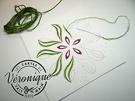 Exemple de carte brodée / card embroidery Example