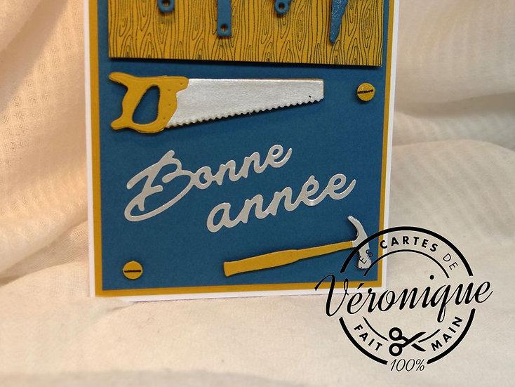 """Carte """"Bonne Année"""" bricolage / """"Happy new year""""Bricolage"""