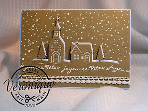 Carte de vœux 3D Stampin'Up© Bonjour de ma ville (144671) / Greetinds 3D Stampin'Up© card Hometown greetings edgelits dies