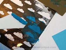 Exemple d'utilisation de la pâte à embosser Stampin'Up teintée avec de l'encre / example of using Stampin'Up® Embossing paste tinted with ink