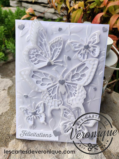 Carte Papillons blancs / White Butterflies card