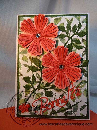 """Carte Bonne Fête """"Duo de Fleurs"""" / Party flowers card"""