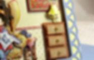 Detail d'une carte 3D les Cartes de Veronique / Detail of a 3D card