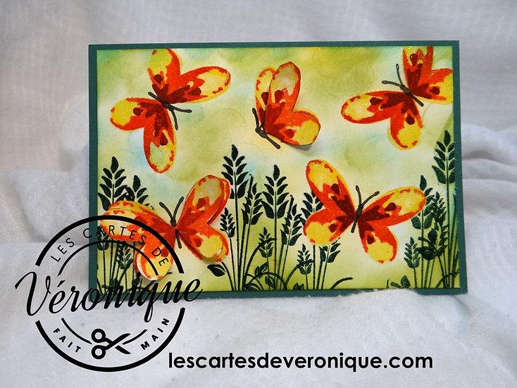"""Carte 3D """"Envol de papillons"""" / Butterflies's flight 3D card"""