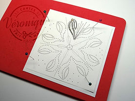 Exemple de poinçonage pour carte brodée / Example of punching card embroidered