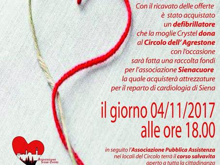 In memoria di Antonio Esposito: inaugurazione defibrillatore al Circolo dell'Agrestone